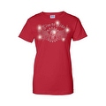 Women's Juniors T-Shirt Rhinestones Live To Ride Skull & Angel Wings Biker Tee - Thumbnail 2