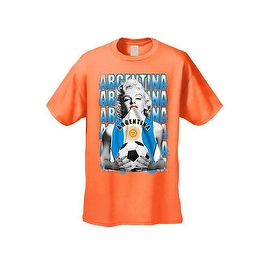 MEN'S SPORTS T-SHIRT MARILYN ARGENTINA SOCCER TEAM FLAG FUTBOL FOOTBALL TEE S-5X