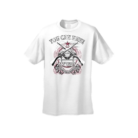 Men's T-Shirt You Can Have My Gun ... Pry It From My Dead Fingers 2nd Amendment