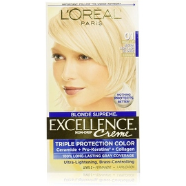 L'Oreal Paris Excellence Creme Haircolor, Extra Light Ash Blonde [01] (Cooler) 1 ea