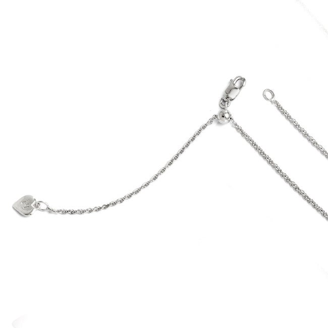Italian Sterling Silver Adjustable Loose Rope Chain - 22 inches