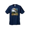 Men's T-Shirt Bald Eagle in Nature USA Forever Freedom American Heritage Tee - Thumbnail 4