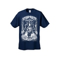 Men's T-Shirt White Shut Up & Ride Skeleton Biker Skull On A Hog Motorcycle Tee - Thumbnail 4