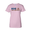 Women's Juniors T-Shirt United States USA Flag American Pride Stars & Stripes Tee - Thumbnail 0