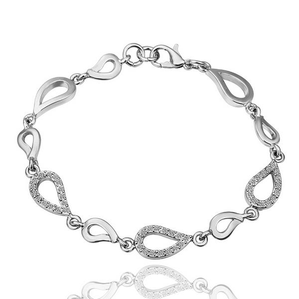 Shop Vienna Jewelry 18K White Gold Oval Shaped Interconnected Bracelet with  Austrian Crystal Elements - Free Shipping On Orders Over  45 -  Overstock.com - ... 8178014ddbc5