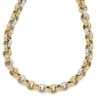 Italian 14k Two-Tone Gold Polished Fancy Necklace - 18 inches