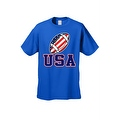 Men's T-Shirt USA Flag Football Game Pride American Sports Bar Beer Patriotic - Thumbnail 8