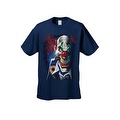 Men's T-Shirt Mad Joker Clown Crazy Creepy Red Nose Smoking Cigar Graphic Tee - Thumbnail 2