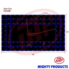 Xtarps - 16' x 28' Flatbed Truck Tarp - Light Weight Steel Tarp