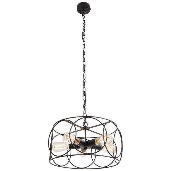 5 light vintage industrial black barn pendant lamp light chandelier