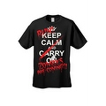 Men's T-Shirt Keep Calm and Run! Zombies are Coming!!! Undead Death Kill Tee - Thumbnail 2