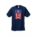 Men's USA Flag T-Shirt Anchor Navy Stars & Stripes Sailor American Pride Tee - Thumbnail 7