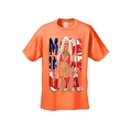 Men's T-Shirt Made In The USA Flag Sexy Blond Girl Stars & Stripes Hot Chick Tee - Thumbnail 3