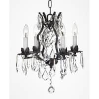 Wrought Iron Crystal Chandelier Lighting