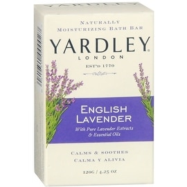 Yardley London Moisturizing Bar 4.25-ounce English Lavender with Essential Oils