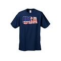 Men's USA Flag T Shirt 3D Patriotic Pride Stars & Stripes American Old Glory Tee - Thumbnail 0