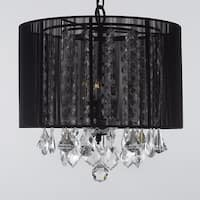 Crystal Chandelier With Large Black Shade H15 x W15