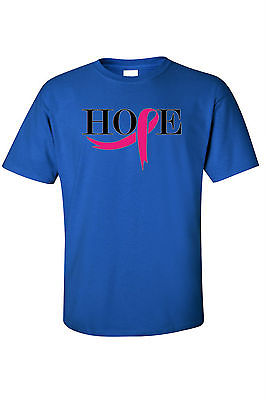 UNISEX T-SHIRT 'Pink Ribbon of Hope' SUPPORT BREAST CANCER AWARENESS TEE