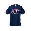 Men's USA Flag T Shirt Distressed Red, White & Blue Pride Old Glory Stars/ Stripes - Thumbnail 0