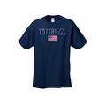 MEN'S T-SHIRT USA AMERICAN FLAG TEE PATRIOTIC STARS STRIPES RED WHITE BLUE S-5XL - Thumbnail 3