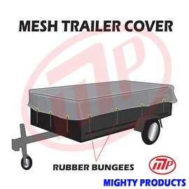 "Xtarps utility trailer mesh cover with 10 pcs of 9"" rubber bungee 8x18 (MT-TT-0818)"