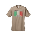 Men's Funny T-Shirt Made In Italy Humor Italian Pride Barcode Flag Jersey Shores - Thumbnail 3