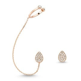 Amorium Mia Earring and Stud in 18K Rose Gold