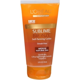 L'Oreal SUBLIME BRONZE 5-ounce Self-Tanning Gelee Medium-Natural