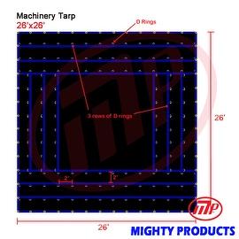 Xtarps - 26' x 26' Flatbed Truck Tarp - Light Weight Machinery Tarp
