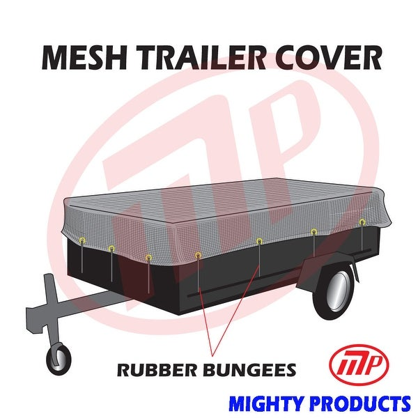 "Xtarps utility trailer mesh cover with 10 pcs of 9"" rubber bungee 6x8 (MT-TT-0608)"