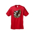 Men's T-Shirt Bald Eagle In Nature Mountains Wildlife American Pride Symbol Tee - Thumbnail 0