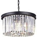 Crystal vintage industrial metal chandelier pendant lamp light - Thumbnail 0