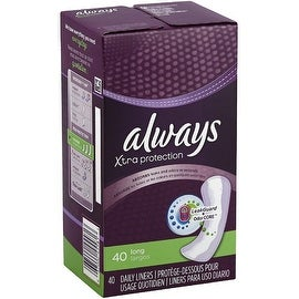 Always Xtra Protection Long Daily Liners 40 ea