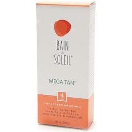 Bain de Soleil 4-ounce Mega Tan Sunscreen With Self Tanner SPF 4