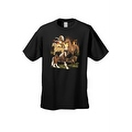 Men's T-Shirt Different Breed Horses Collage Wildlife Untaimed Freedom Farm Tee - Thumbnail 5