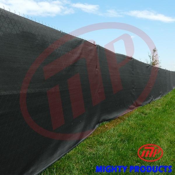 Xtarps - Size: 6 ft. x 30 ft. - Premium Privacy Fence Screen 90% Blockage, BLACK color
