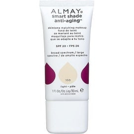 Almay Smart Shade Anti-Aging Skintone Matching Makeup, Light [100] 1 oz