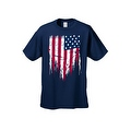MEN'S PATRIOTIC T-SHIRT Painted USA AMERICAN FLAG RED WHITE BLUE PRIDE S-5XL TEE - Thumbnail 7