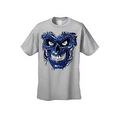Men's T-Shirt Metallic Robotic Blue Skull Skeleton Wired Terminator Graphic Tee - Thumbnail 7