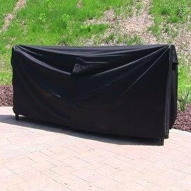 Sunnydaze Black Heavy Duty Log Rack Cover