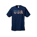 Men's T-Shirt United States of America USA Flag Pride Stars & Stripes Patriotic Tee - Thumbnail 8