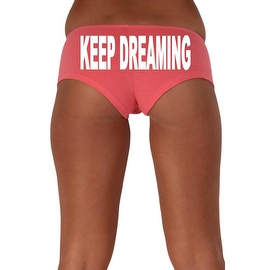 Women's Sexy Hot Booty Boy Shorts Keep Dreaming Block White Bold Style Type Lingerie