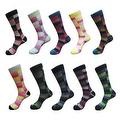 Check Square Men's Cotton Crew Dress Socks (10 PAIRs) Size 10 - 13 - Thumbnail 0
