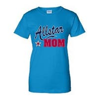 JUNIORS T-SHIRT Allstar Mom  MOTHER TEE THE BEST MOMMY SPORTS TOP S M L XL 2XL
