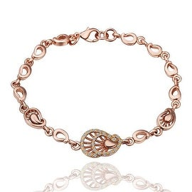 Petite Seashell 18K Rose Gold Bracelet with Swarovski Elements