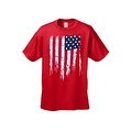MEN'S AMERICAN FLAG T-SHIRT USA Ripped Distressed Flag STARS & STRIPES S-5XL TEE - Thumbnail 5