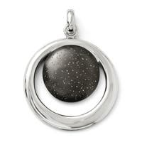 Sterling Silver Rhodium-plated & Ruthenium Radiant Essence Pendant. Pendant ONLY, Chain sold separately.