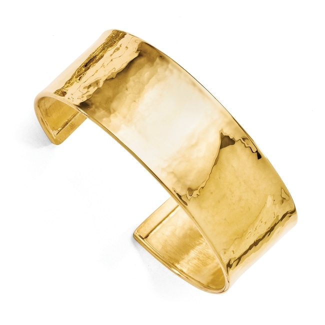 Italian Sterling Silver and Gold-plated Cuff Bangle