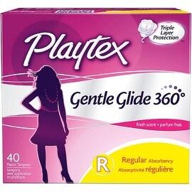 Playtex Gentle Glide 360 Fresh Scent Regular Absorbency Tampons 40 ea