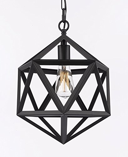 Polyhedron Pendant Chandelier Wrought Iron